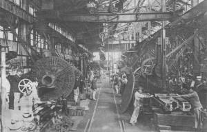 Les ateliers au milieu du 20ème siècle